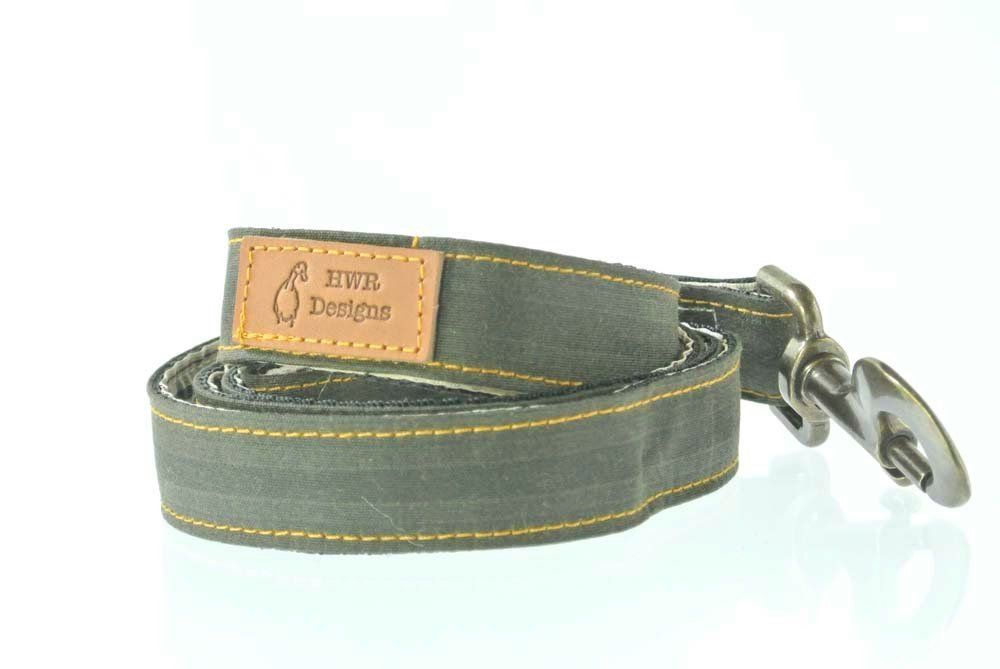 Green Waxed Cotton Dog Lead