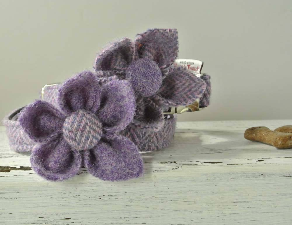 Purple flower corsage collar ornament