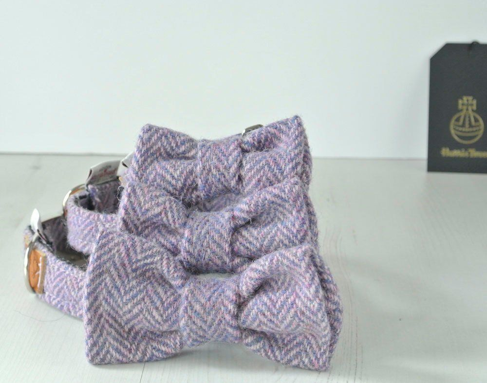Purple Harris Tweed Bow Tie