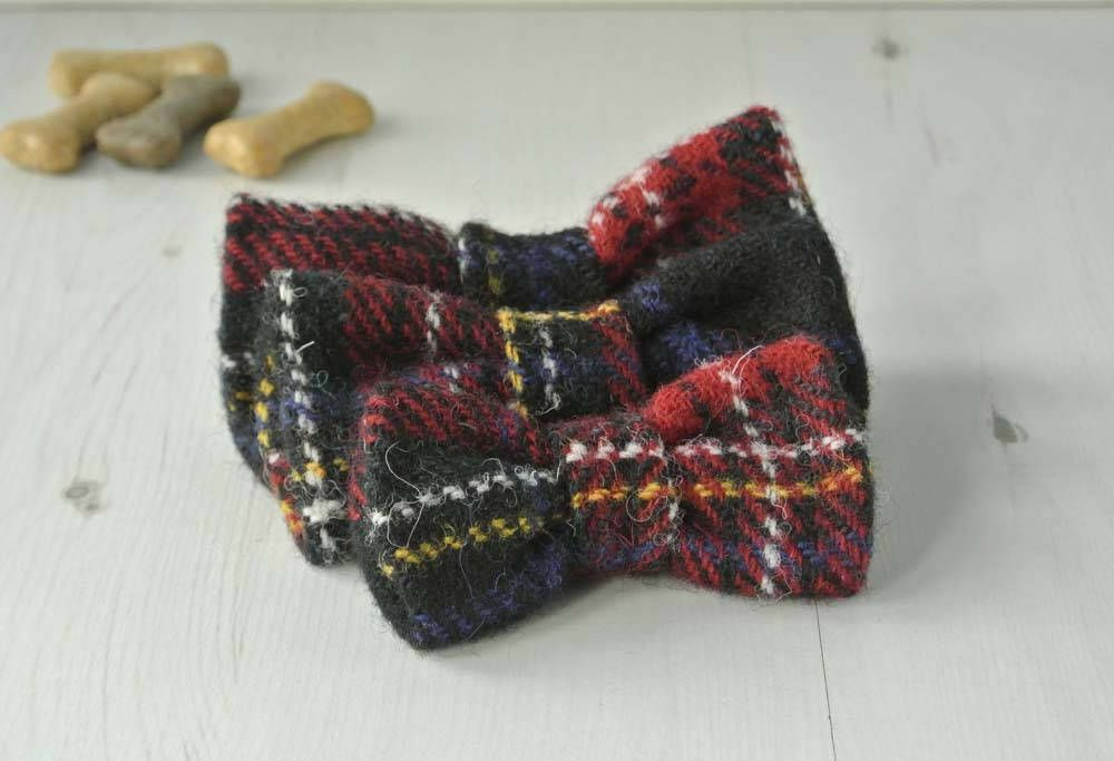 Tartan Plaid Harris Tweed Bow Tie